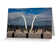 9/11 Memorial on Staten Island, New York. Greeting Card