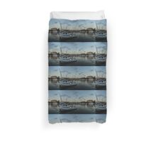 As the Evening Gently Comes - Ortygia, Syracuse, Sicily Grand Harbor  Duvet Cover