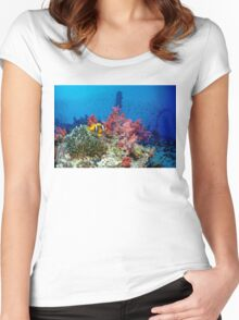 Big small world Women's Fitted Scoop T-Shirt