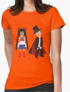 Tina Moon and Buttedo Mask Womens Fitted T-Shirt