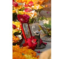 Flowers and incense Photographic Print
