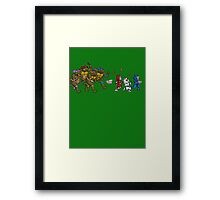 Turtles VS Cats Framed Print