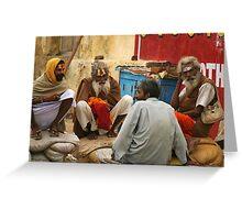 Sadhus chatting Greeting Card