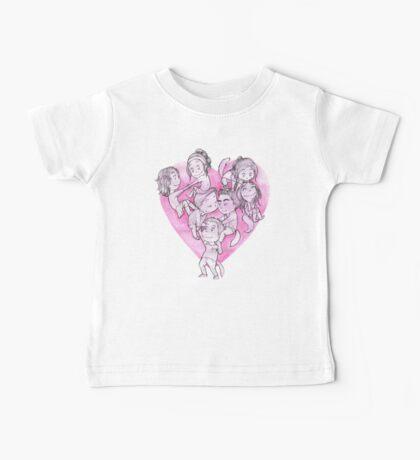 Heart Pile Baby Tee