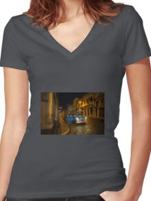 Night Taxi  Women's Fitted V-Neck T-Shirt
