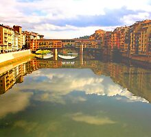 Florence-  Ponte Vecchio by Angela King-Jones