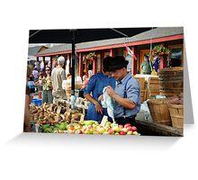 Thursday Market Greeting Card