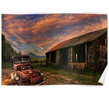 Pickup truck Americana in Wales Poster