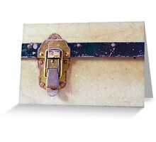 Worn Catch on Old Case Greeting Card