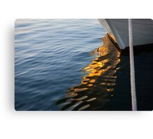 Reflecting on Yachts and Sunsets Canvas Print