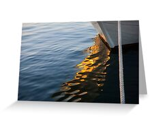 Reflecting on Yachts and Sunsets Greeting Card