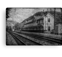 Waiting on the Ghost Train Canvas Print
