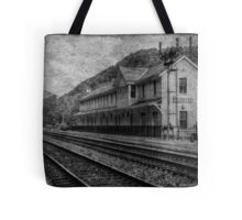 Waiting on the Ghost Train Tote Bag