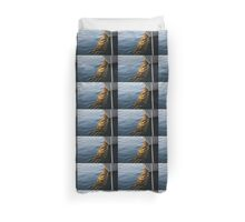 Reflecting on Yachts and Sunsets Duvet Cover