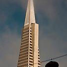 TransAmerica Pyramid Building San Francisco with Incoming Fog by Buckwhite