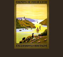 France Bretagne Vintage Travel Poster Restored T-Shirt