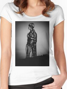 Llanbedrog Tin man Women's Fitted Scoop T-Shirt