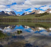 Little Redfish Lake Reflection by Bob Vaughan