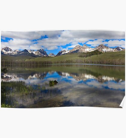 Little Redfish Lake Reflection Poster