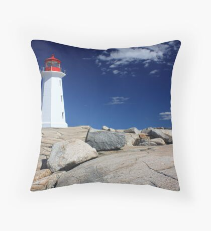Peggy's Cove Lighthouse Throw Pillow
