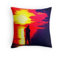 A Shadow Of Man Throw Pillow