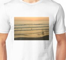 Californian Gold - Sunset, Beach, Waves and Surfers - Oh So California Unisex T-Shirt