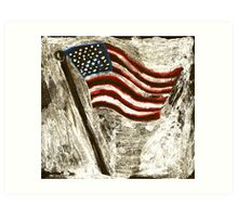 the American Flag Art Print