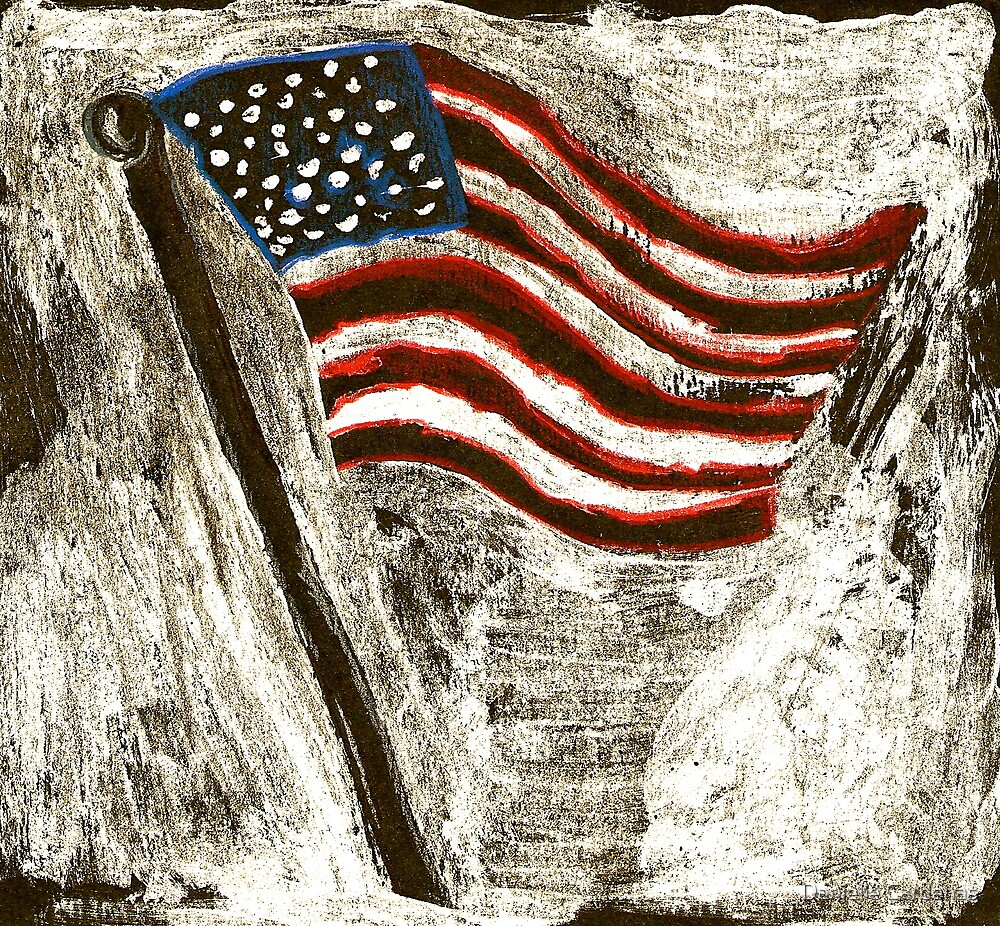 the American Flag by Danielle Cardenas
