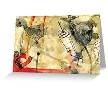 Into the Hole Greeting Card