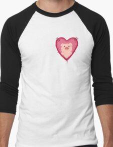 i love waddles patch Men's Baseball ¾ T-Shirt