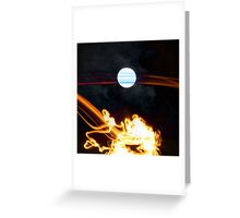 Fire Moon Greeting Card