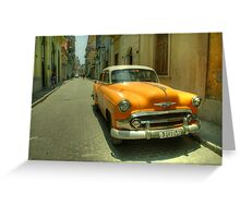 Side Street Chevy  Greeting Card