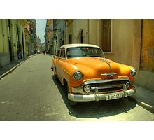 Side Street Chevy  Photographic Print