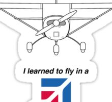I learned to fly in a Cessna Sticker
