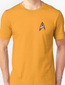 Cosmic Star Trek Insignia in Yellow Unisex T-Shirt