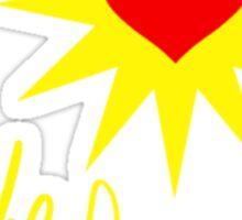 the heart shirt Sticker
