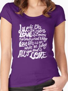 Love Is All You Need Women's Fitted Scoop T-Shirt