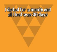 I dieted for a month and all I lost was 30 days by margdbrown