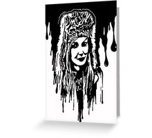 Girl in Black  Greeting Card