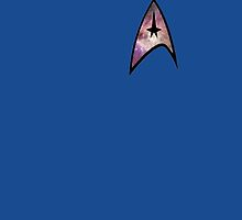 Cosmic Star Trek Insignia in Blue by donatepurple