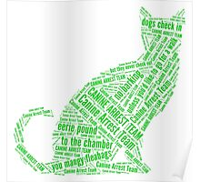 Eerie Indiana canine arrest team green text Poster