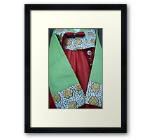 Korean Hanbok Traditional Dress Framed Print