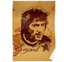 George Best - Coffe stain Poster