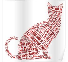 eerie indiana canine arrest team red text Poster