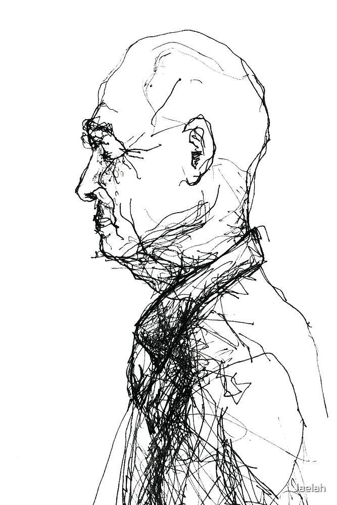 Old Man at Church by Jaelah