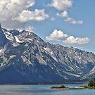 Teton Range Across Jackson Lake by Caleb Ward