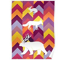 Antlers & Chevrons Poster
