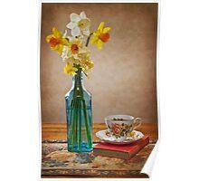 Daffodils and Tea Poster