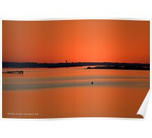 Red Dawn At Narrow Bay | Smith Point, New York  Poster