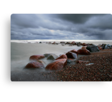 Stormy weather with mist waves Canvas Print